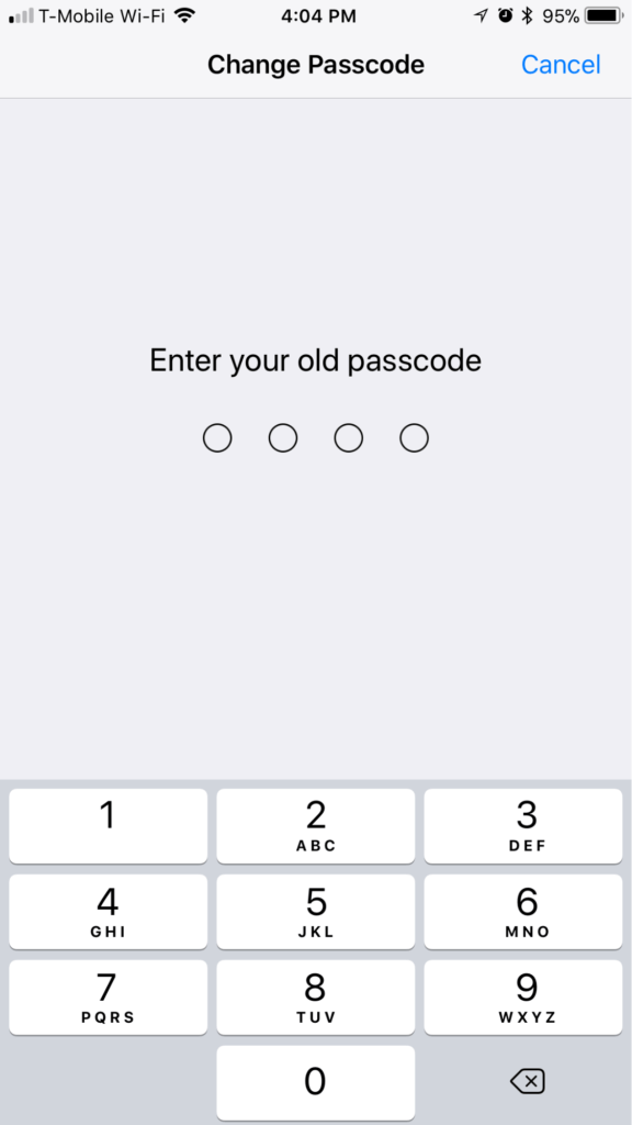 Tetapan Kod Passcode iPhone iOS