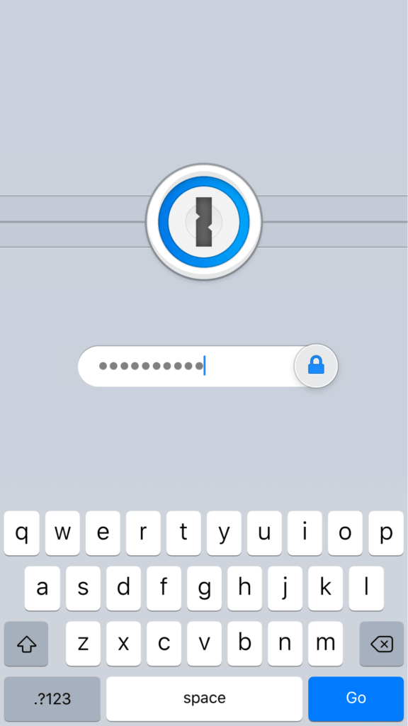 iPhone iOS 1Password