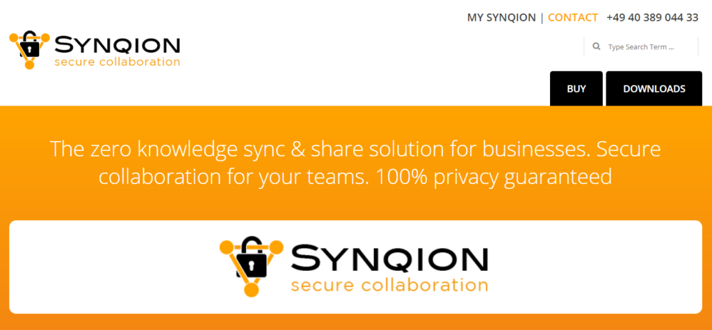 Synqion Sync og Share Storage
