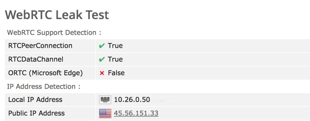 WebRTC Leak Test VPN
