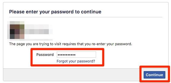 Prijava na Facebook račun