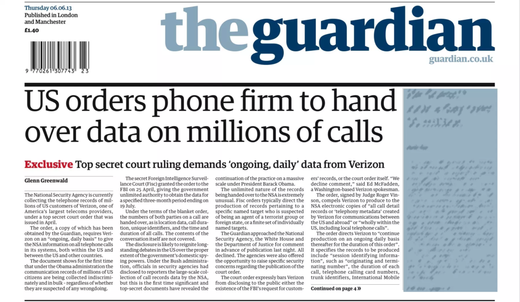 the guardian paper header